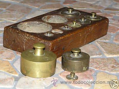 Antigüedades: JUEGO DE PESAS - Foto 2 - 9290911