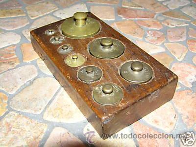 Antigüedades: JUEGO DE PESAS - Foto 4 - 9290911