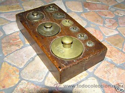Antigüedades: JUEGO DE PESAS - Foto 5 - 9290911