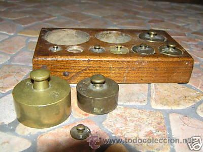 Antigüedades: JUEGO DE PESAS - Foto 6 - 9290911