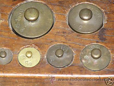 Antigüedades: JUEGO DE PESAS - Foto 8 - 9290911