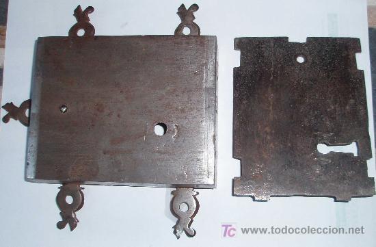 Antigüedades: CERRADURA FRANCESA DE ARMARIO. EPOCA LUIS XIV - Foto 3 - 26706865