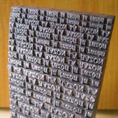Antigüedades: LA RAZON PERIÓDICO - IMPRENTA COMPOSICION DE LINOTIPOS DE PLOMO -. Lote 26767976