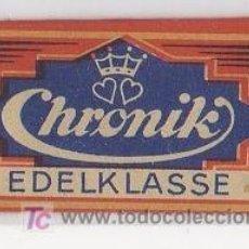Antigüedades: CUCHILLA DE AFEITAR CHRONIK EDELKLASSE HOJA. Lote 235981690