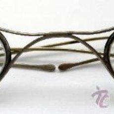 Antigüedades: GAFAS METÁLICAS DE PATILLA PLEGABLE -- S. XIX - XX. Lote 19044710