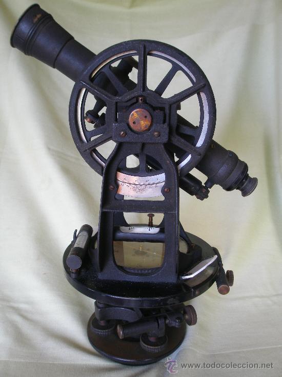 TEODOLITO TODO BRONCE DE PRINCIPIOS SIGLO XX - KEUFFEL & ESSER . U. S. A. (Antigüedades - Técnicas - Otros Instrumentos Ópticos Antiguos)