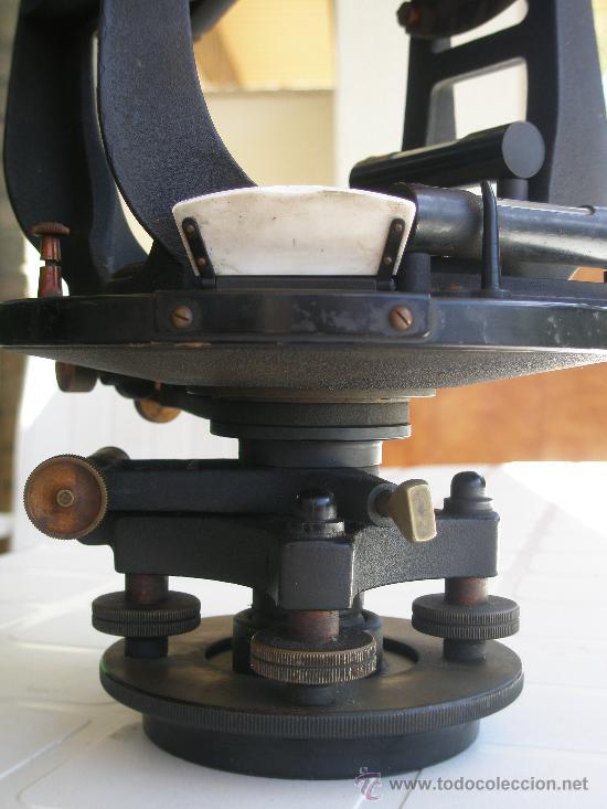 Antigüedades: TEODOLITO TODO BRONCE DE PRINCIPIOS SIGLO XX - KEUFFEL & ESSER . U. S. A. - Foto 14 - 15651304