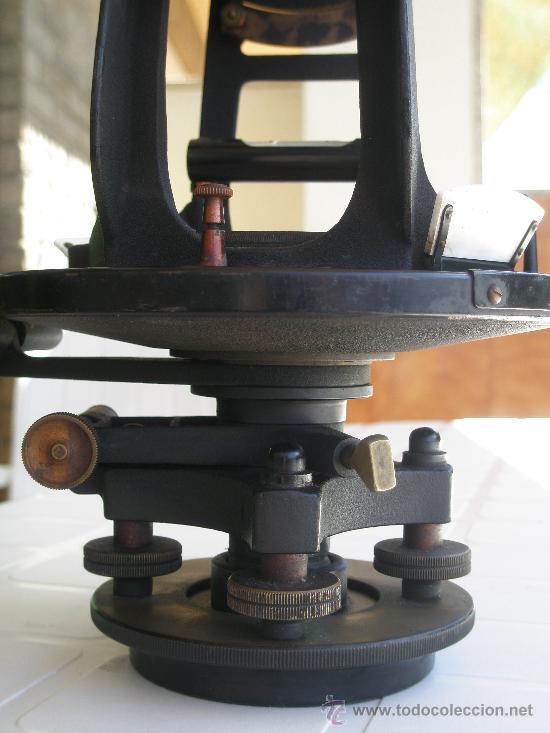 Antigüedades: TEODOLITO TODO BRONCE DE PRINCIPIOS SIGLO XX - KEUFFEL & ESSER . U. S. A. - Foto 15 - 15651304