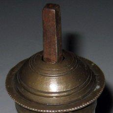 Antigüedades: ANTIGUO Y PRECIOSO MOLINILLO DE CAFE TURCO - EN LATON DORADO Y HIERRO - MANILLA PLEGABLE DE HIERRO F. Lote 23974693