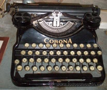 MÁQUINA DE ESCRIBIR CORONA (Antigüedades - Técnicas - Máquinas de Escribir Antiguas - Otras)