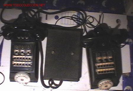 TELEFONO CENTRALITA, CAJA DE DISTRIBUCION Y TELEFONO MOVIL ANTIGÜOS DE BAKELITA - ERICSSON (Antigüedades - Técnicas - Teléfonos Antiguos)