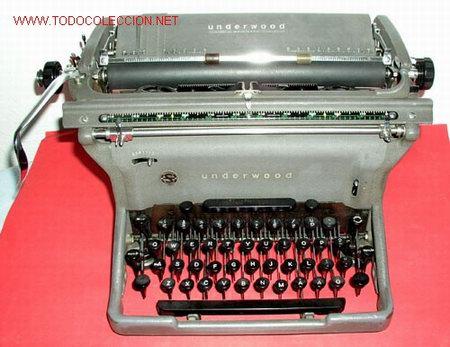 MAQUINA DE ESCRIBIR UNDERWOOD (Antigüedades - Técnicas - Máquinas de Escribir Antiguas - Underwood)