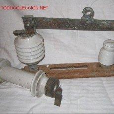 Antigüedades: ANTIGUO FUSIBLE Y DESCONECTADOR ALTA TENSION. Lote 24205450