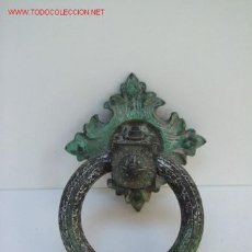 Antigüedades: ANTIGUO TIRADOR DE BRONCE. Lote 27162482