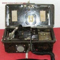 Teléfonos: TELEFONO DE CAMPAÑA DE BAQUELITA. Lote 12313825