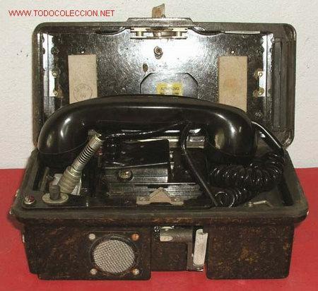 Teléfonos: TELEFONO DE CAMPAÑA DE BAQUELITA - Foto 2 - 12313825
