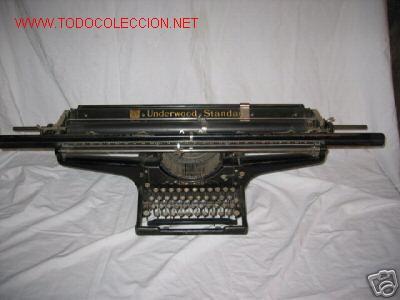 ESPECTACULAR MÁQUINA DE ESCRIBIR UNDERWOOD STANDARD (Antigüedades - Técnicas - Máquinas de Escribir Antiguas - Underwood)