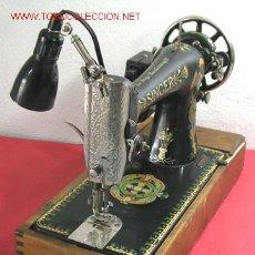 Antigüedades: MAQUINA DE COSER SINGER ANTIGUA. Lote 12302223