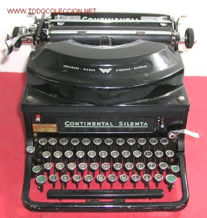 MAQUINA DE ESCRIBIR CONTINENTAL SILENTA (Antigüedades - Técnicas - Máquinas de Escribir Antiguas - Continental)