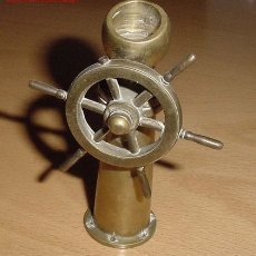 Antigüedades: ANTIGUO TIMON DE BRONCE , MIDE 11 CM APROX . Lote 18987625