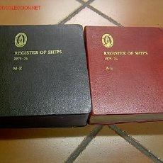Antigüedades: LLOYDS REGISTER OF SHIPPING - 1975/76- REGISTRO MUNDIAL DE BUQUES DE LA SOCIEDAD DE CLASIFICACION +. Lote 16948164
