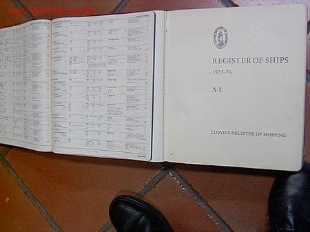 Antigüedades: LLOYDS REGISTER OF SHIPPING - 1975/76- REGISTRO MUNDIAL DE BUQUES DE LA SOCIEDAD DE CLASIFICACION + - Foto 2 - 16948164