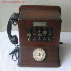 Teléfonos: CENTRALITA DE MADERA CON METALES ...1941 PARÍS . Lote 26666778