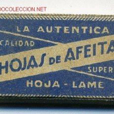 CAJA CON 10 HOJAS DE AFEITAR, HOJAS DE AFEITAR , ORIGINAL, VER FOTO. .