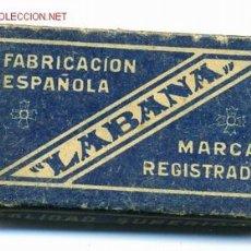 Antigüedades: CAJA CON 10 HOJAS DE AFEITAR, LABANA, ORIGINAL, VER FOTO. .. Lote 43536597
