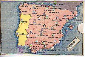 CALCULADORA DE DISTANCIAS EN KILOMETROS ENTRE CAPITALES PROVINCIALES ESPAÑOLAS (9,5X14,5CM APROX) (Antigüedades - Técnicas - Aparatos de Cálculo - Calculadoras Antiguas)