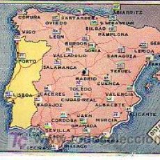 Antigüedades: CALCULADORA DE DISTANCIAS EN KILOMETROS ENTRE CAPITALES PROVINCIALES ESPAÑOLAS (9,5X14,5CM APROX). Lote 27506609
