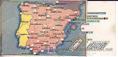 Antigüedades: calculadora de distancias en kilometros entre capitales provinciales españolas (9,5x14,5cm aprox) - Foto 3 - 27506609