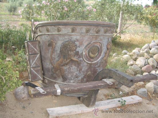 Antigüedades: IDEAL COMO RECLAMO O PARA JARDIN, CUADRIGA Y BIGA DE COMBATE PARA 2 O 4 CABALLO S, ESPECTACULAR - Foto 2 - 20117247