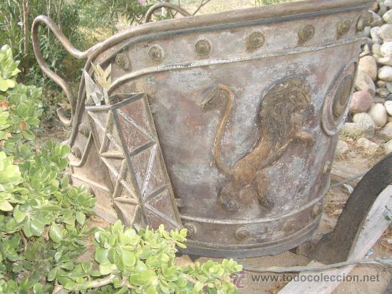 Antigüedades: IDEAL COMO RECLAMO O PARA JARDIN, CUADRIGA Y BIGA DE COMBATE PARA 2 O 4 CABALLO S, ESPECTACULAR - Foto 4 - 20117247