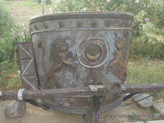 Antigüedades: IDEAL COMO RECLAMO O PARA JARDIN, CUADRIGA Y BIGA DE COMBATE PARA 2 O 4 CABALLO S, ESPECTACULAR - Foto 7 - 20117247