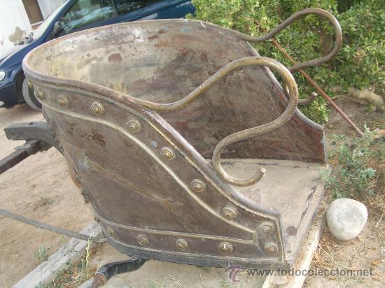 Antigüedades: IDEAL COMO RECLAMO O PARA JARDIN, CUADRIGA Y BIGA DE COMBATE PARA 2 O 4 CABALLO S, ESPECTACULAR - Foto 12 - 20117247