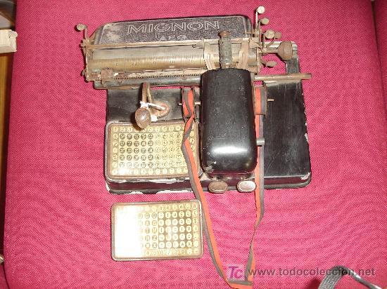 MAQUINA DE ESCRIBIR MIGNON AEG (Antigüedades - Técnicas - Máquinas de Escribir Antiguas - Mignon)
