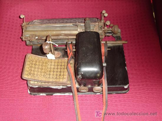Antigüedades: maquina de escribir mignon aeg - Foto 2 - 27139599