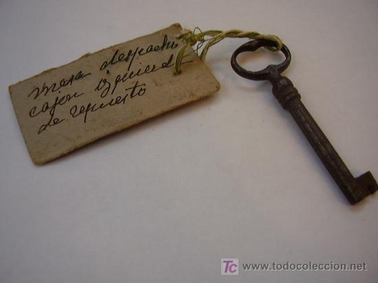 Llave antigua comprar llaves antiguas en todocoleccion for Llaves para lavabo antiguas