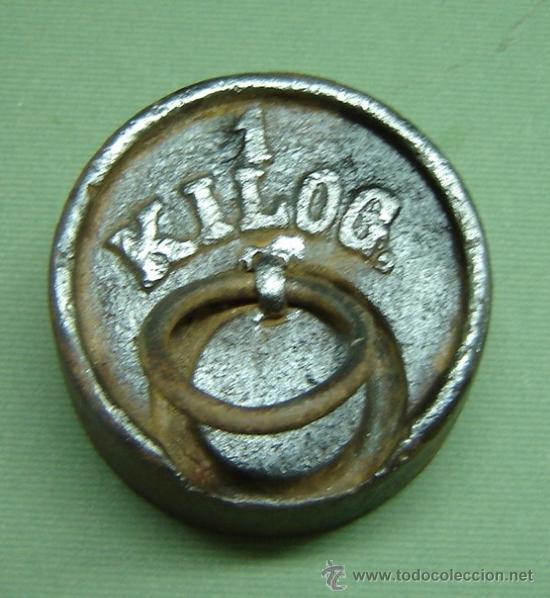 PESA DE BALANZA ANTIGUA 1 KILO (Antigüedades - Técnicas - Medidas de Peso - Balanzas Antiguas)