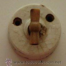 Antigüedades: INTERRUPTOR CERAMICO ANTIGUO. Lote 20330108