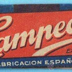 Antiguidades: HOJA DE AFEITAR CAMPEÓN. ESPAÑOLA. EN REVERSO DE PESTAÑA PONE: 0,15 PTAS.. Lote 89645251