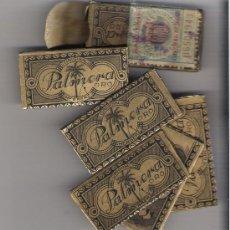 Antigüedades: ESTUCHE CON 6 HOJAS DE AFEITAR COMPLETAS *PALMERA ORO* HERBERZ. Lote 11613560