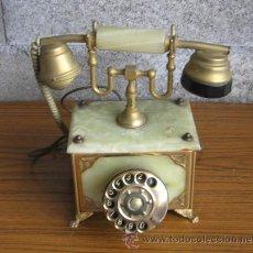 Teléfonos: TELEFONO DE MESA .. DE MÁRMOL Y METAL. Lote 26574291