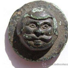 Antigüedades: EXTRAORDINARIO PONDERAL. TRACIA. SIGLO III-IV AC.BRONCE. ROSTRO DE HOMBRE. Lote 27131122
