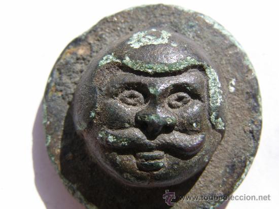 Antigüedades: EXTRAORDINARIO PONDERAL. TRACIA. SIGLO III-IV AC.BRONCE. ROSTRO DE HOMBRE - Foto 2 - 27131122