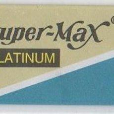 Antigüedades: CUCHILLA DE AFEITAR SUPER-MAX PLATINUM HOJA. Lote 235988220