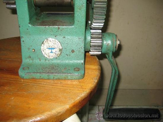 Antigüedades: antigua laminadora de joyería - Foto 3 - 61695080