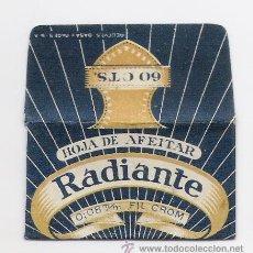 Antigüedades: HOJA DE AFEITAR RADIANTE -FAB J. VACARISAS -PRECIO 60 CTS.. Lote 182631718