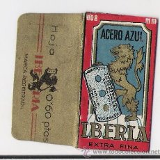 Antigüedades: HOJA DE AFEITAR IBERIA -FABRICANTE E. BASSAT , BARCELONA -PRECIO 60 CTS.. Lote 182631687